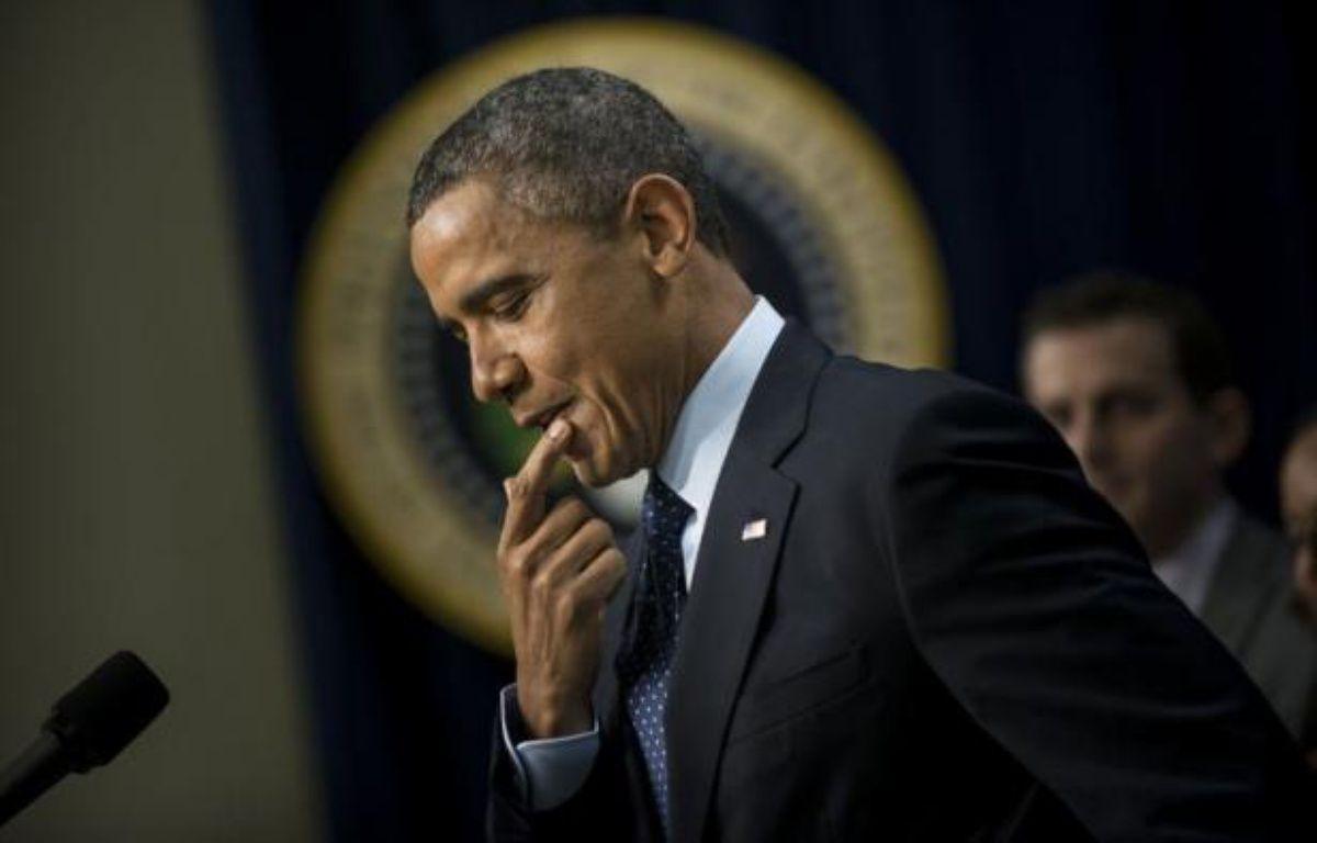 """Le président Barack Obama a affirmé lundi qu'un accord semblait """"en vue"""" au Congrès pour éviter in extremis aux Etats-Unis une cure d'austérité forcée, mais qu'un compromis n'avait pas encore été formellement conclu. – Brendan Smialowski afp.com"""