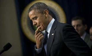 """Le président Barack Obama a affirmé lundi qu'un accord semblait """"en vue"""" au Congrès pour éviter in extremis aux Etats-Unis une cure d'austérité forcée, mais qu'un compromis n'avait pas encore été formellement conclu."""