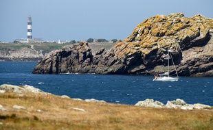 Vue de la côte de l'île d'Ouessant.