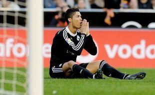 Cristiano Ronaldo lors de la rencontre entre le Real Madrid et Valence le 4 janvier 2015.