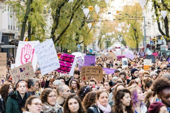 La marche #NousToutes à Lyon le 24 novembre 2018.
