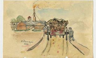 Le musée de l'ancien camp de la mort d'Auschwitz-Birkenau installé par l'Allemagne nazie dans le sud de la Pologne s'est enrichi de mémoires illustrés inédits de trois détenus polonais de ce camp, a indiqué mercredi un porte-parole du musée, Bartosz Bartyzel.