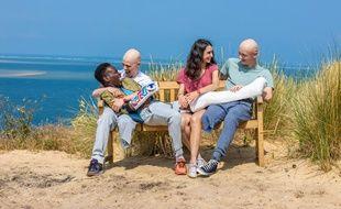 Azize Diabate, Audran Cattin, Tom Rivoire et Louna Espinosa dans la série  «Les