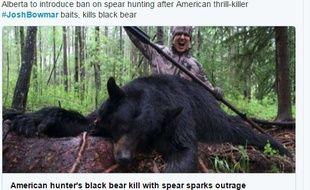 Un chasseur américain a tué un ours noir et publié la vidéo sur Youtube, provoquant la colère des internautes.