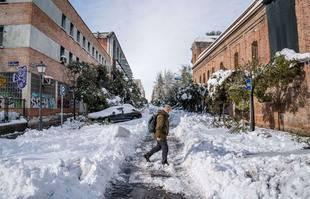 Madrid sous la neige, le 10 janvier 2021.