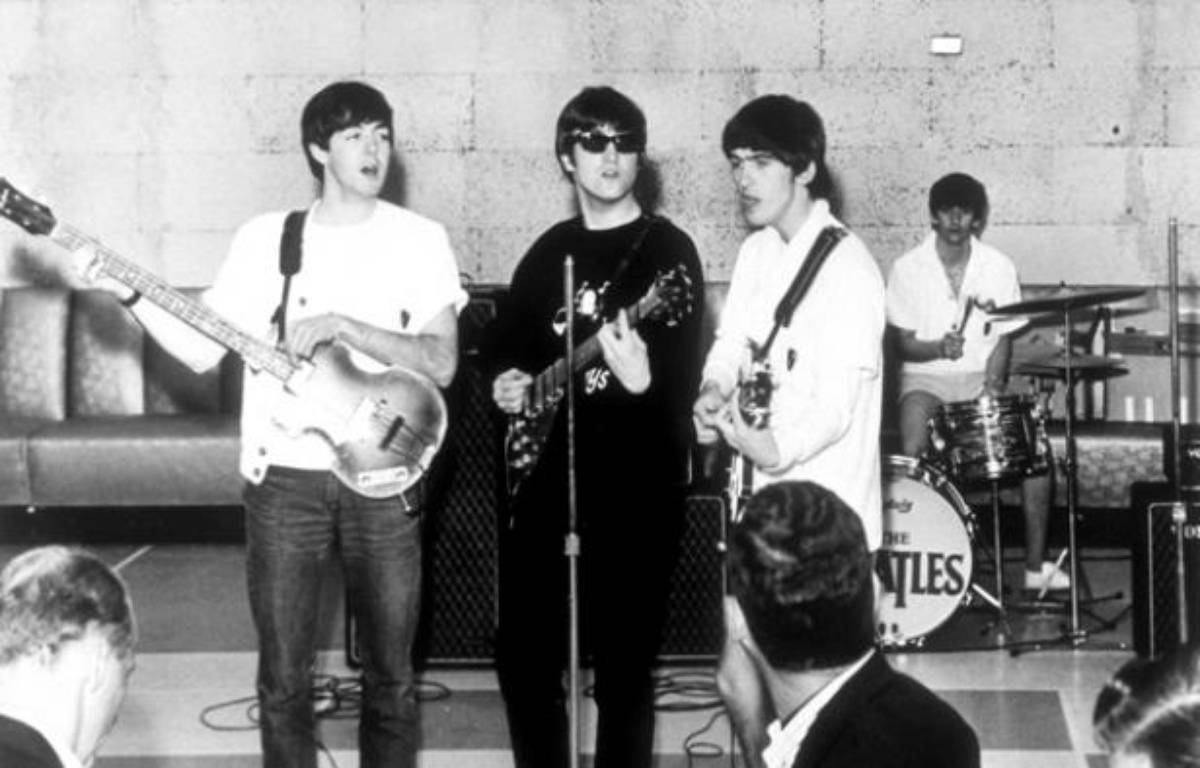 John Lennon, George Harrison, Paul McCartney et Ringo Starr des Beatles. – LA/SUNSHINE INTERNATIONA/SIPA