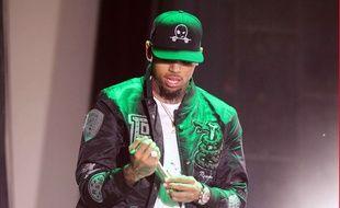 Chris Brown sur scène aux Etats-Unis en septembre 2015.