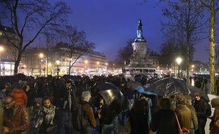«Nuit debout» sur la place de la République, le 2 avril 2016.