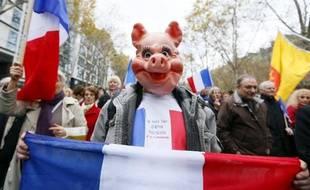 """Une manifestation organisée à Paris le 10 novembre 2012 par Riposte laïque contre """"le fascisme islamiste"""""""