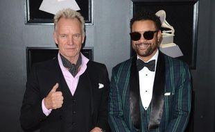 Les artistes Sting et Shaggy aux 60e Grammy Awards