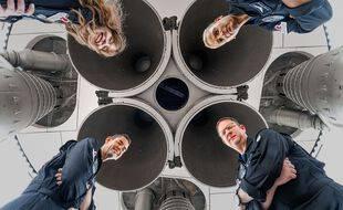 Les quatre «civils» de l'équipage Inspiration4 de SpaceX Hayley Arceneaux, Sian Proctor, Chris Sembroski et Jared Isaacman.