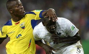 Le défenseur de l'équipe de France Mamadouu Sakho, le 25 juin 2014 contre l'Equateur, à Rio.