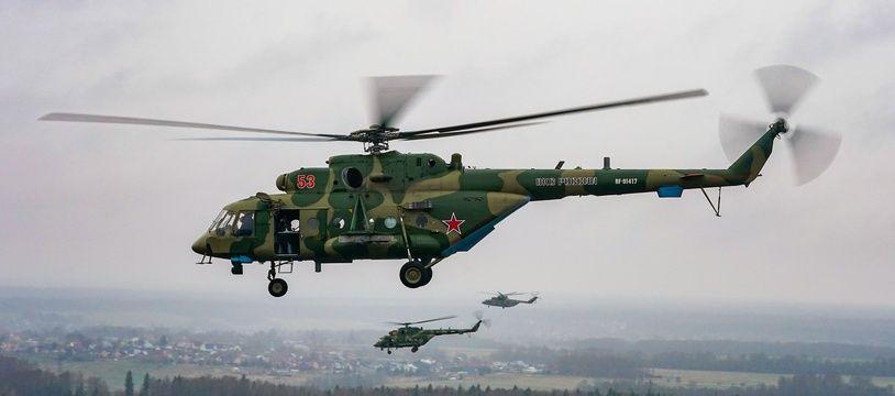 Un hélicoptère Mi-8 de l'armée russe.
