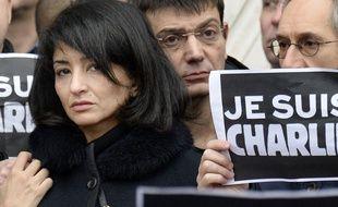 Jeannette Bougrab le 9 mai 2015 devant la mairie de Paris.