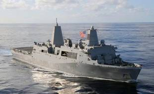 L'USS San Antonio, un navire de guerre de l'armée américaine.