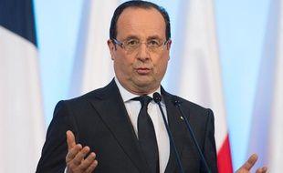 François Hollande le 6 mars 2013, à Varsovie (Pologne).