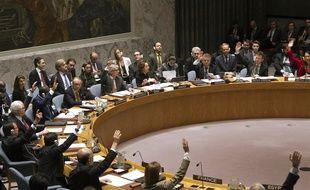 Le Conseil de sécurité de l'ONU réuni le 15 décembre 2016 à New York (Etats-Unis).