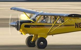 Harrison Ford aux commandes d'un avion à Los Angeles, le 19 novembre 2009.