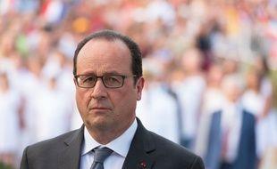 Le chef de l'Etat François Hollande en déplacement aux Antilles le 9 mai 2015.