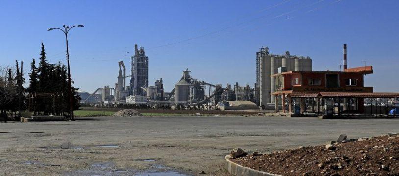 L'usine Lafarge de Jalabiya en Syrie, le 19 février 2018.
