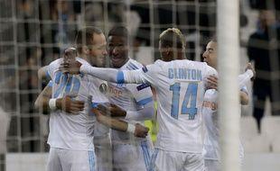 Valère Germain a inscrit un doublé face à Braga, en 16es de finale de Ligue Europa, jeudi 15 février.