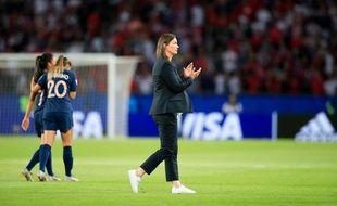 Corinne Diacre, sélectionneuse de l'équipe de France, le 28 juin 2019.