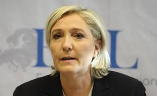 La présidente du Front national, Marine Le Pen, le 21 janvier 2017, à Coblence, en Allemagne.