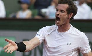 Andy Murray lors du match face à Djokovic, le 5 juin 2015