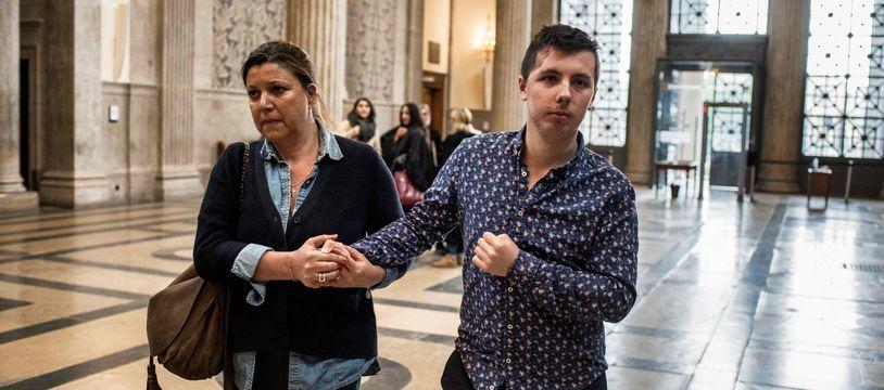 Marin se rend à son procès à la Cour d'assises pour mineurs de Lyon, le 3 mai 2018.