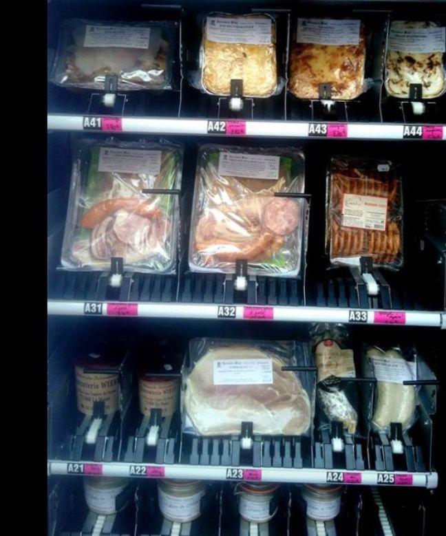 Les produits proposés... avec les fameuses rillettes en bas à gauche.