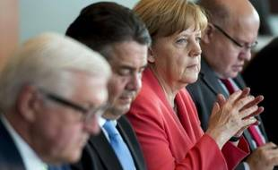 La chancelière allemande Angela Merkel participe à la réunion hebdomadaire de son gouvernement, le 8 juillet 2015 à Berlin