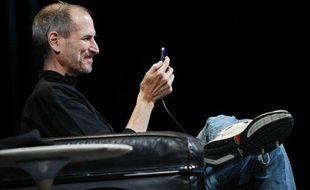Steve Jobs le 7 juin 2010, à la présentation de l'Iphone 4