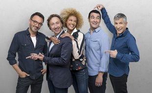 Frédéric Lopez, Stéphane Bern, Amanda Scott, Thomas Thouroude et Nagui assurent les après-midis de France 2