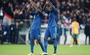 Blaise Matuidi et Mamadou Sakho lors du match France-Ukraine qualificatif pour la Coupe du monde 2014