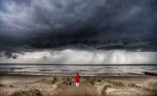Illustration d'une tempête menaçant le littoral. Ici à Norfolk, en Angleterre.