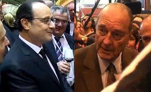 François Hollande et Jacques Chirac ont fait le show au salon...