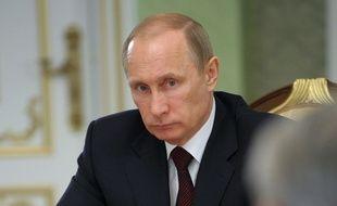 Vladimir poutine à Minsk le 29 avril 2014.