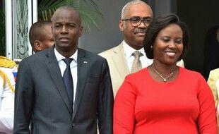 Photo d'archives du 23 mai 2018, montrant le président haïtien Jovenel Moise et son épouse, Martine Moise, au palais national de Port-au-Prince, à Haïti.