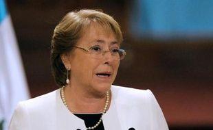 La présidente du Chili Michelle Bachelet, le 30 janvier 2015 à Guatemala