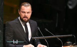 Leonardo DiCaprio devant les Nations unies à New York, le 23 septembre 2014