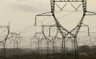 Des lignes électriques en France (illustration).