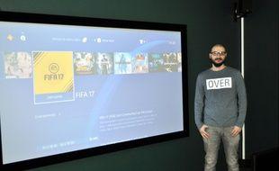 Damien Texier, le créateur, dans l'un des cinq salons de Who's Next Game