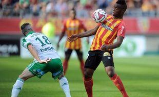 Le Lensois Wylan Cyprien lors de la défaite contre Saint-Etienne (0-1), le 21 septembre 2014 à Amiens.