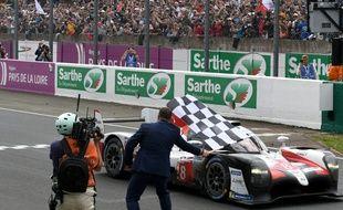 L'arrivée de la 87e édition des 24 Heures du Mans, le 16 juin 2019.