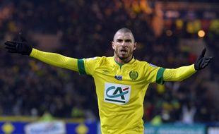Vincent Bessat, après un de ses trois buts, le 20 janvier 2015.