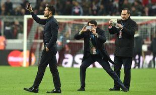 Diego Simeone, coach de l'Atletico Madrid, le 3 mai 2016, à Munich.