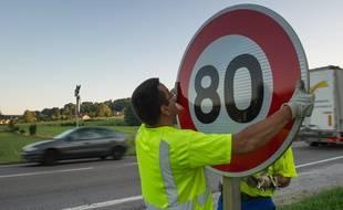Le département de la Creuse ne changera pas ses panneaux malgré le passage à 80 km/h.