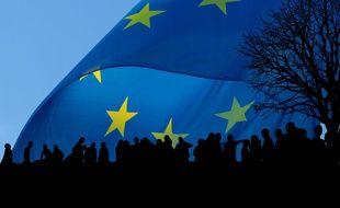 Illustration d'un drapeau européen.