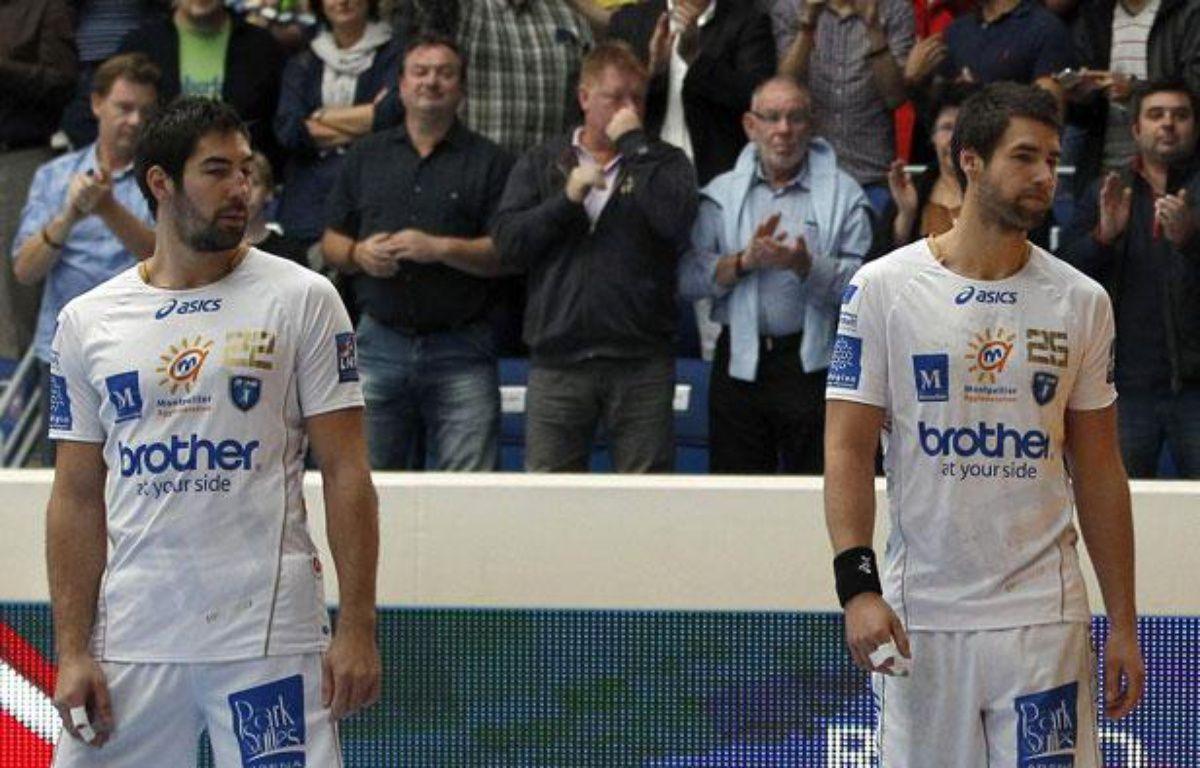 Les frères Karabatic, Nikola (à g.) et Luka, lors d'un match de LNH contre le PSG, le 30 septembre 2012 à Paris. – REUTERS