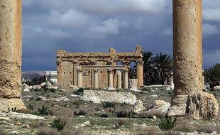 Le temple de Baalshamin dans la cité antique de Palmyre, en Syrie, photographié le 14 mars 2014.